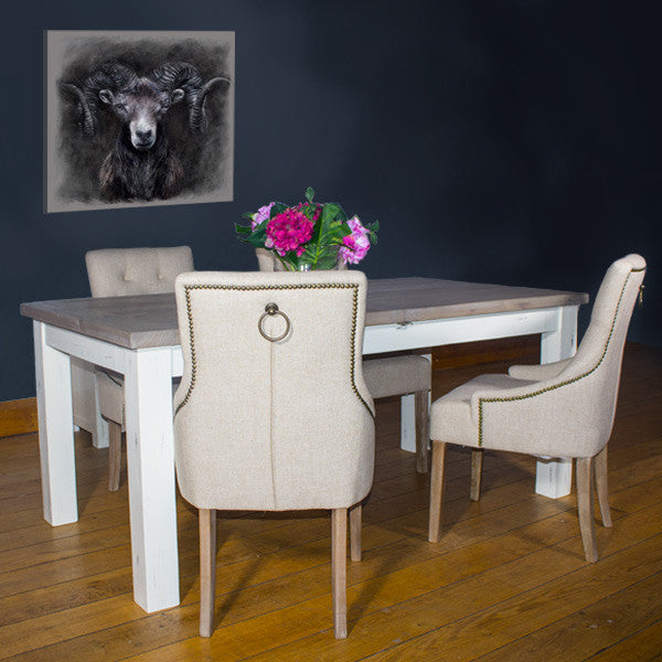 Dorset Reclaimed Wood Extending Dining Table and Florence Dining Chairs