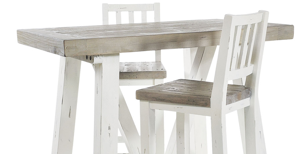 Dorset Reclaimed Wood Bar Dining Set