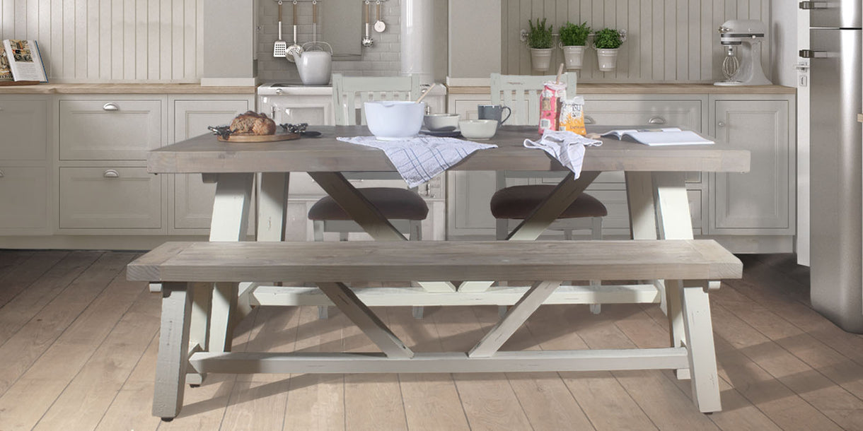 Large Dorset Reclaimed Wood Dining Set