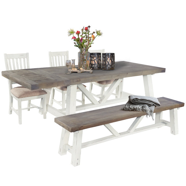 Dorset Reclaimed Wood Trestle Dining Table