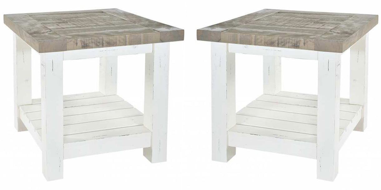 Dorset Reclaimed Wood Lamp Tables