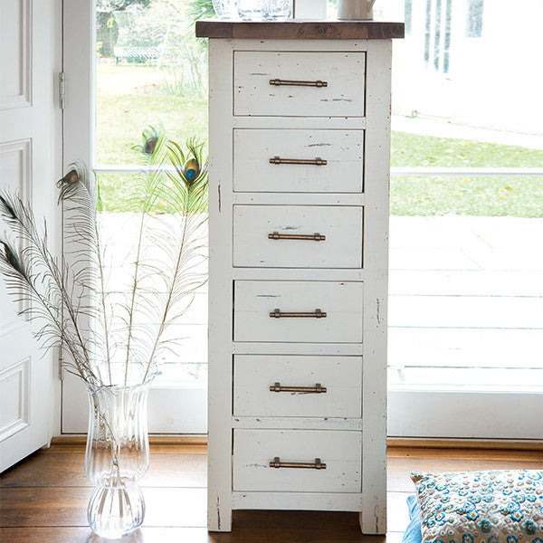 Dorset Tall Reclaimed Wood Chest of Drawers