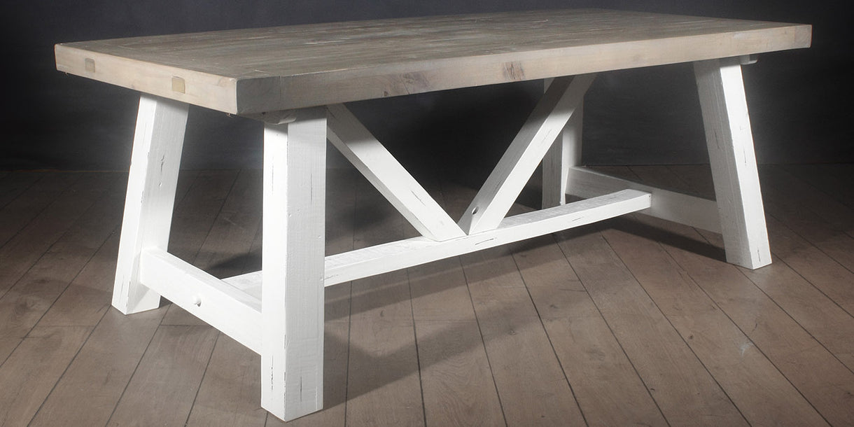 Medium Dorset Reclaimed Wood Trestle Table