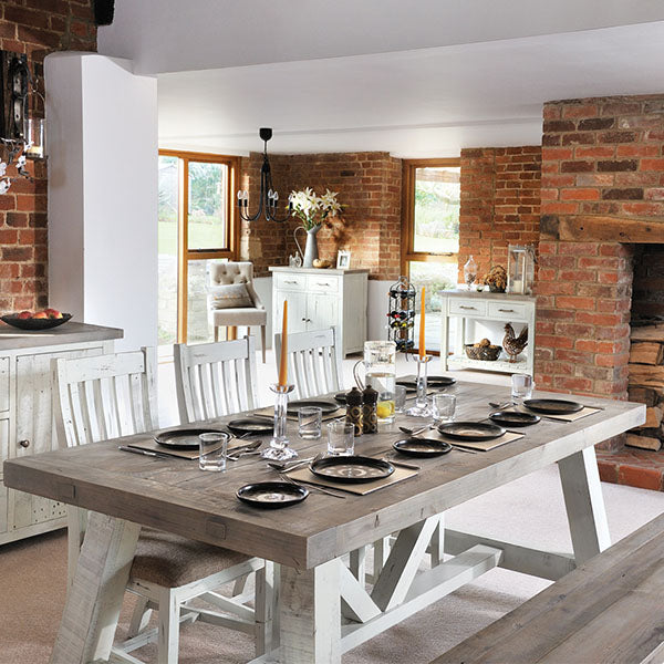 Dorset Reclaimed Wood Dining Table and Wooden Chairs