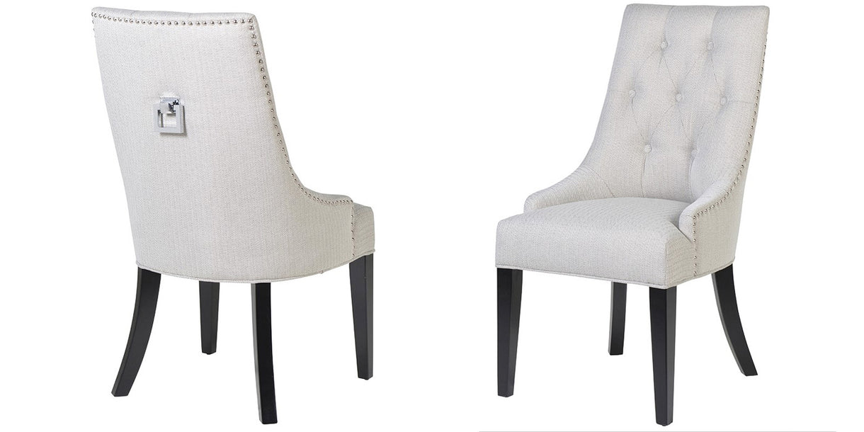 Drakes Upholstered Dining Chairs With Square Knocker
