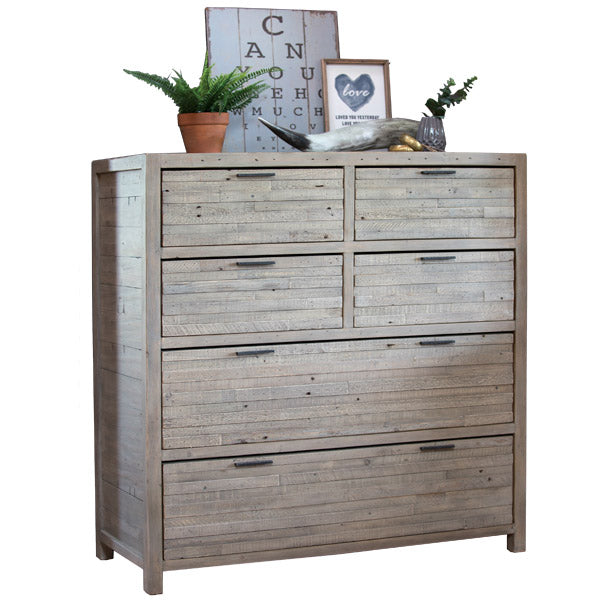 Dulwich Medium Reclaimed Wood Chest of Drawers