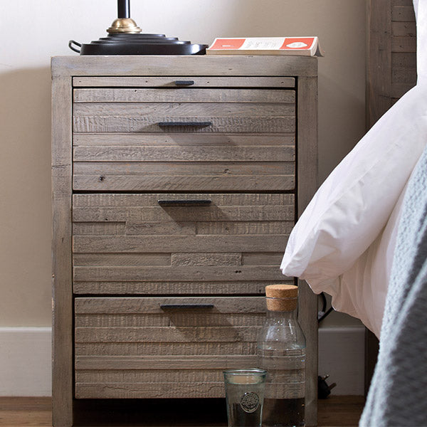 Dulwich Reclaimed Wood Bedside Table