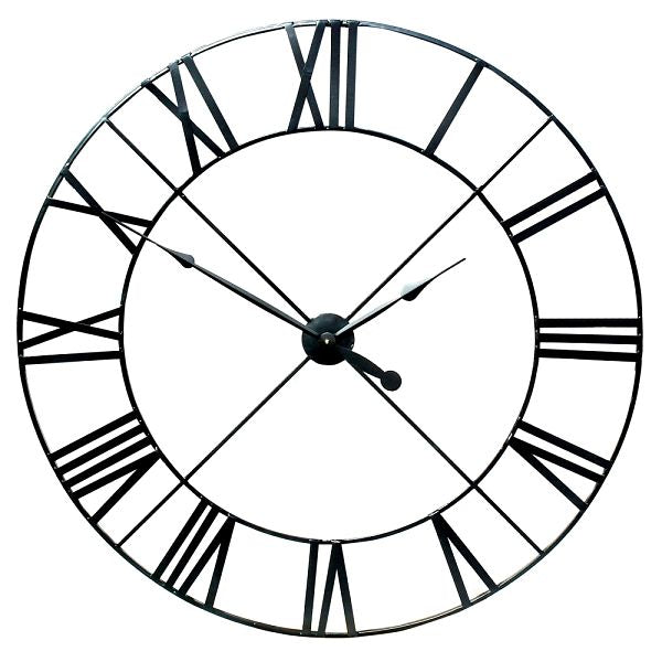 Extra Large Black Metal Wall Clock