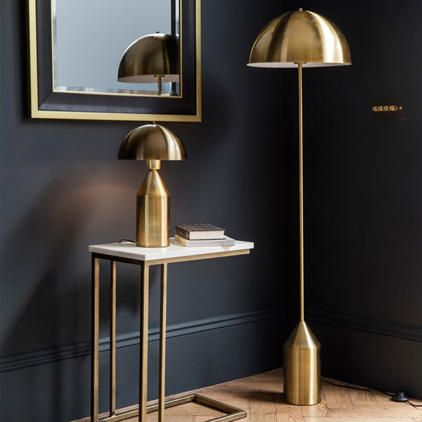 Embla Gold Floor and Table Lamps