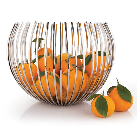 Encore Stainless Steel Basket Bowl Modern Fruit