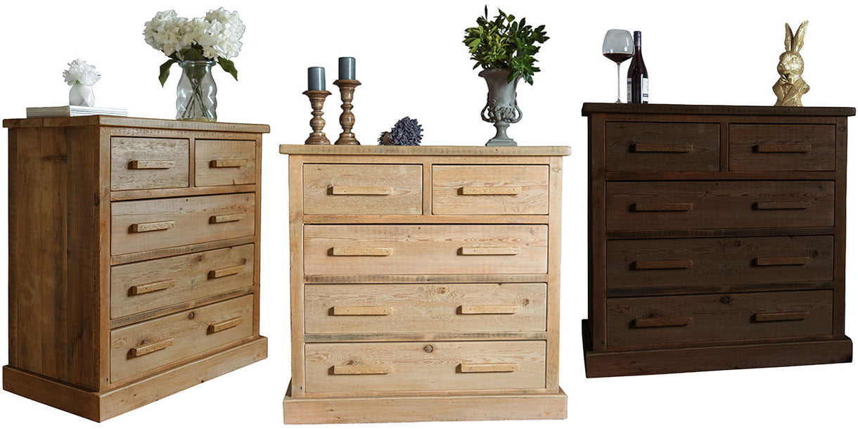 Beam Reclaimed Wooden Chest Of Drawers