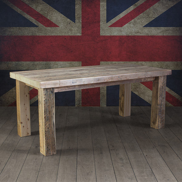 English Beam Reclaimed Wood Dining Table