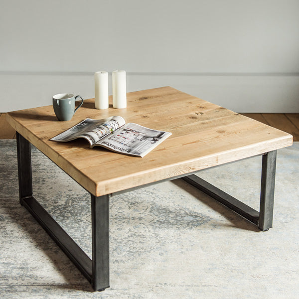 Beam Industrial Reclaimed Wood Coffee Table
