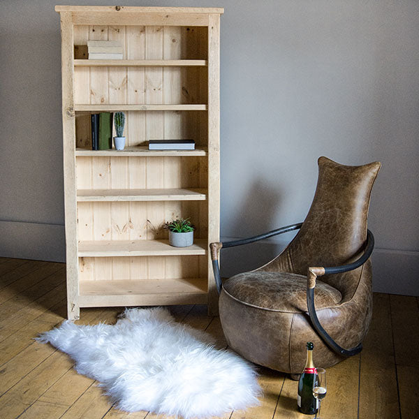 English Beam Reclaimed Wood Bookcase