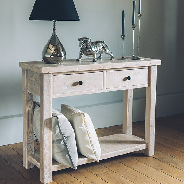 English Beam Reclaimed Wood Console Table