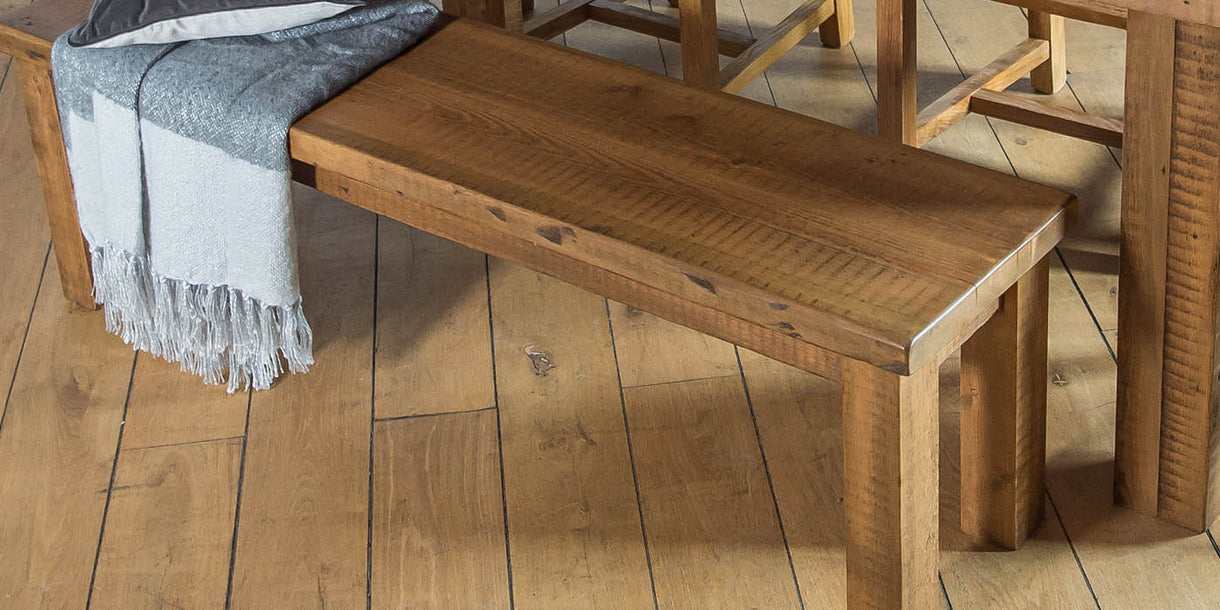 Beam Reclaimed Wood Dining Bench Medium