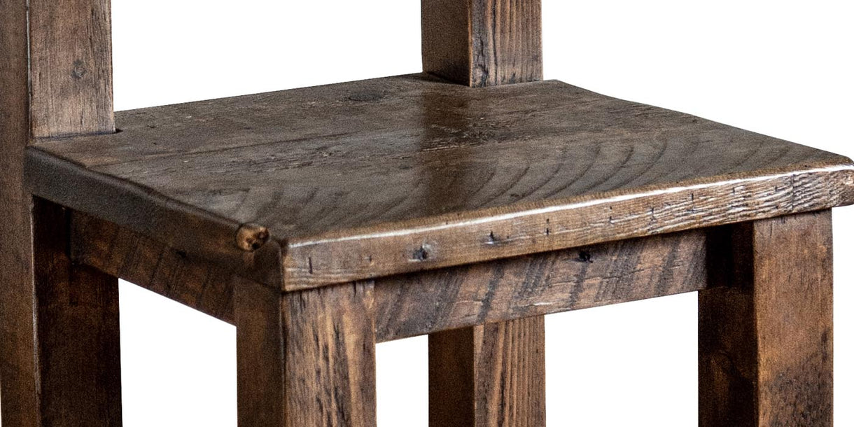 Beam High Back Reclaimed Wood Dining Chair