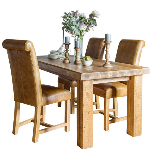 Beam Rustic Extendable Reclaimed Wood Dining Table
