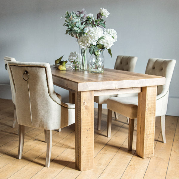 Beam Reclaimed Wood Dining Table in Natural Finish