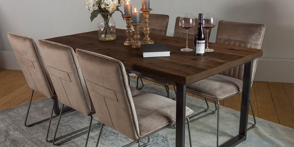 English Beam Industrial Reclaimed Wood Dining Table