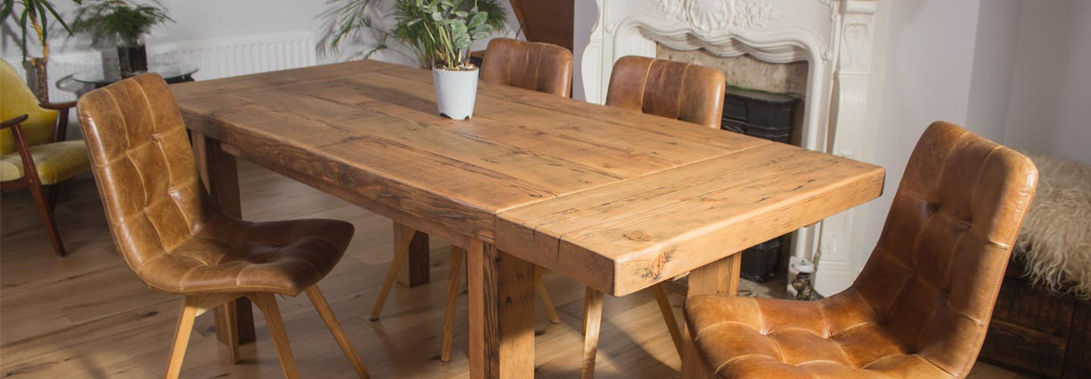 reclaimed wood dining table - Extendable Wooden Dining Table