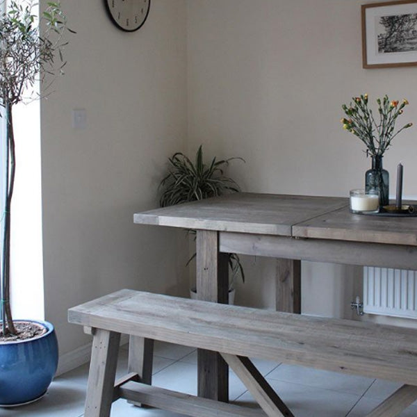 Farringdon Reclaimed Wood Extendable Dining Table