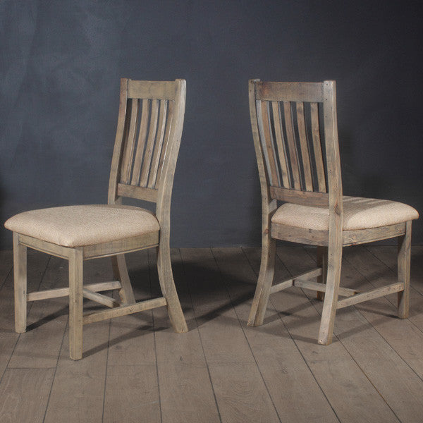 Farringdon Reclaimed Wood Dining Chairs (pair)