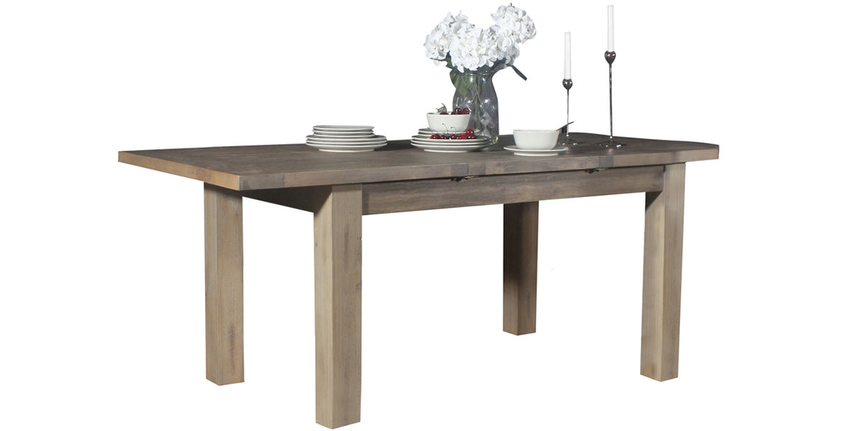 Farringdon Reclaimed Wood Dining Table Extended