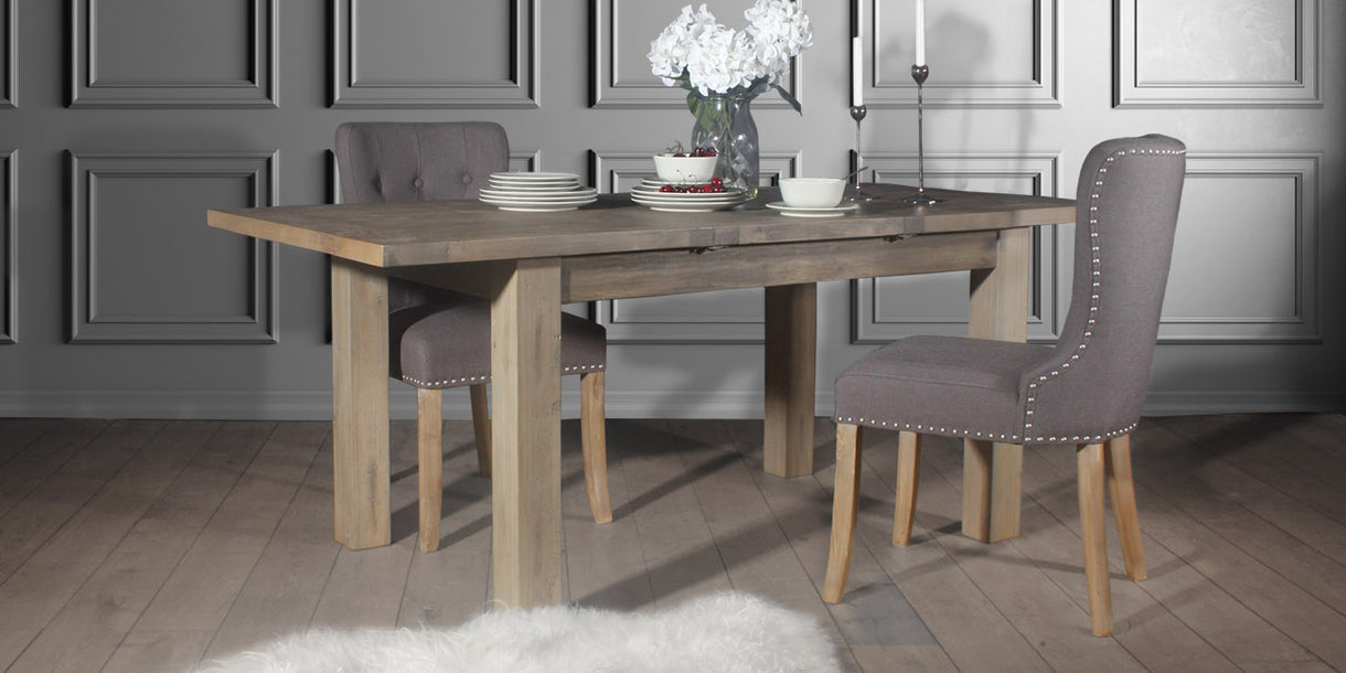 Farringdon Reclaimed Wood Dining Table with Brook Chairs