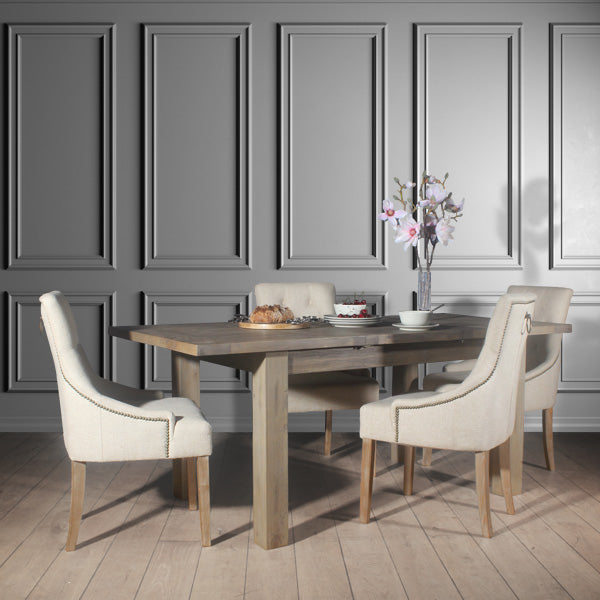 Farringdon Reclaimed Wood Extendable Dining Table with Florence Chairs