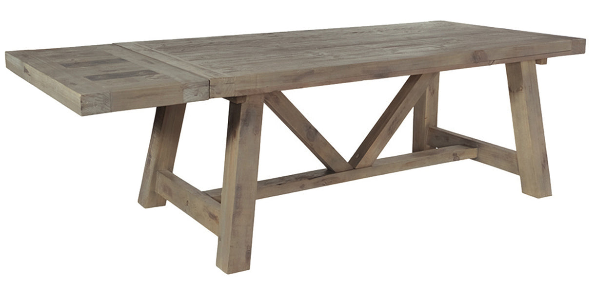 Large Farringdon Reclaimed Wood Trestle Table Dining Table