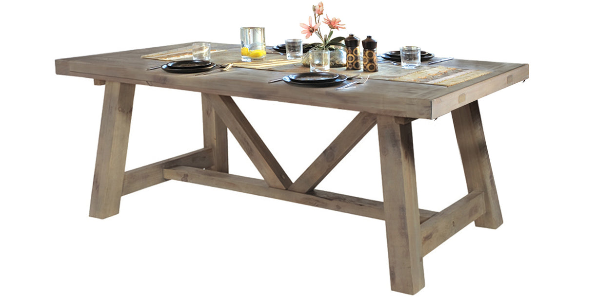 Farringdon Reclaimed Wood Extendable Trestle Table