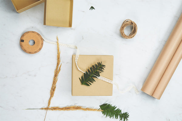Gift Wrap with Natural Elemnts