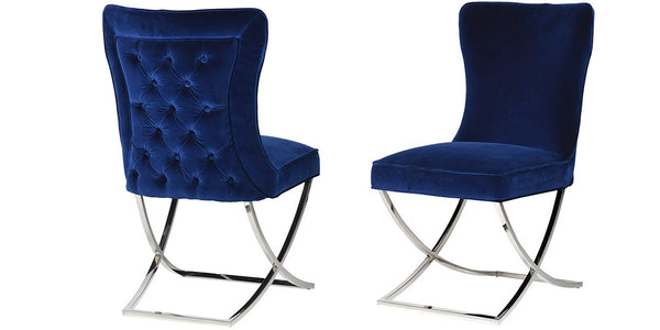 Arielle Navy Velvet Dining Chair