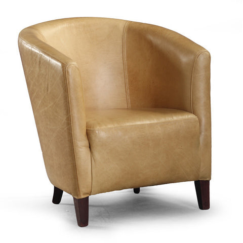 Gold Cerato Leather Tub Chair for living room