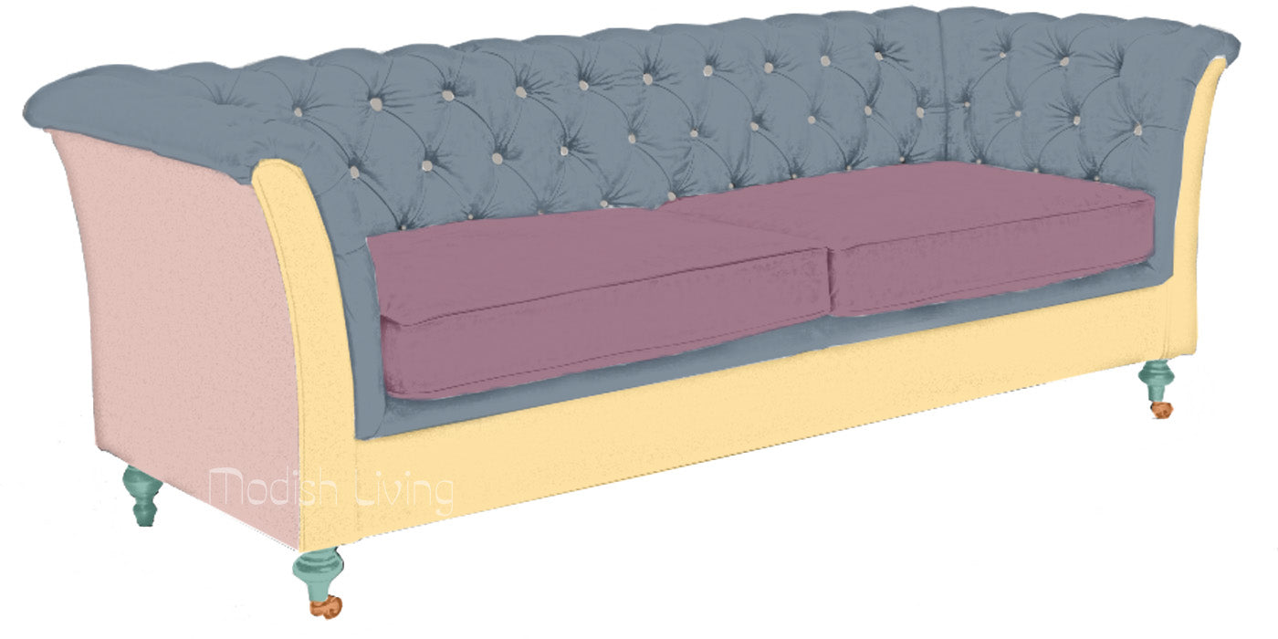 Granby Leather and Wool Sofa Diagram
