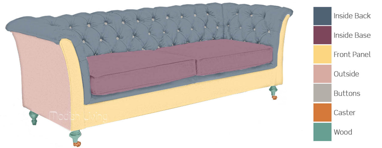 Granby Leather and Wool Sofa Bespoke Options