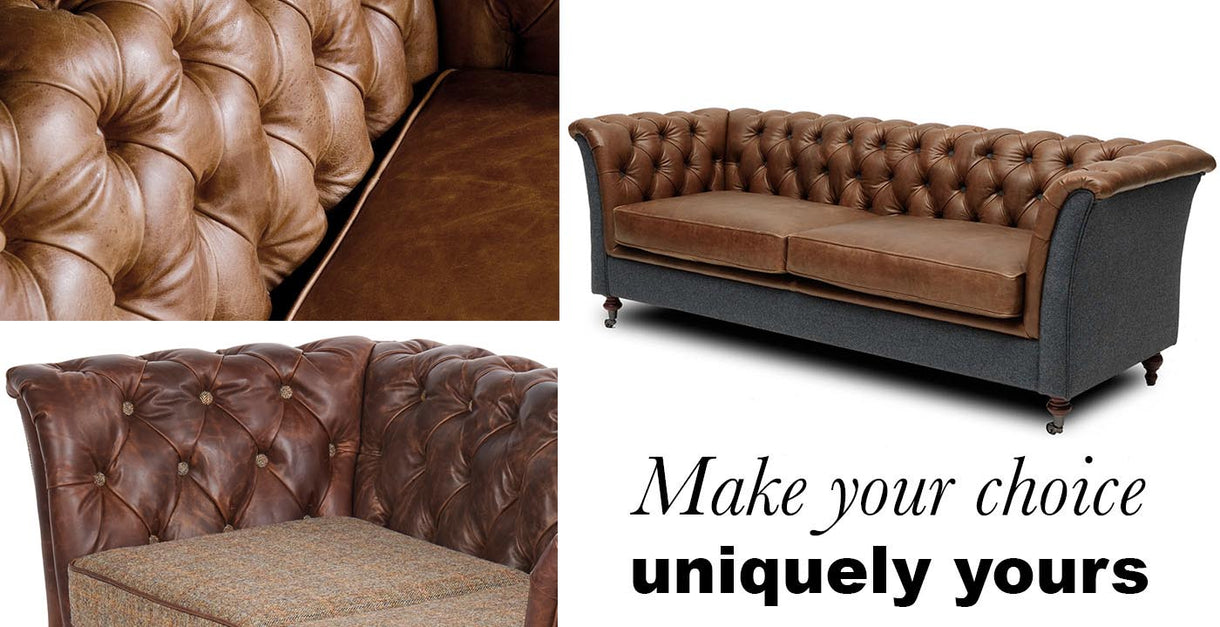 Granby Leather and Wool Sofa Bespoke
