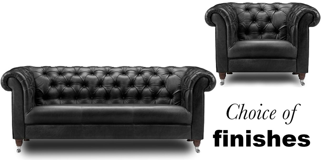Traditional Leather Chesterfield Armchair