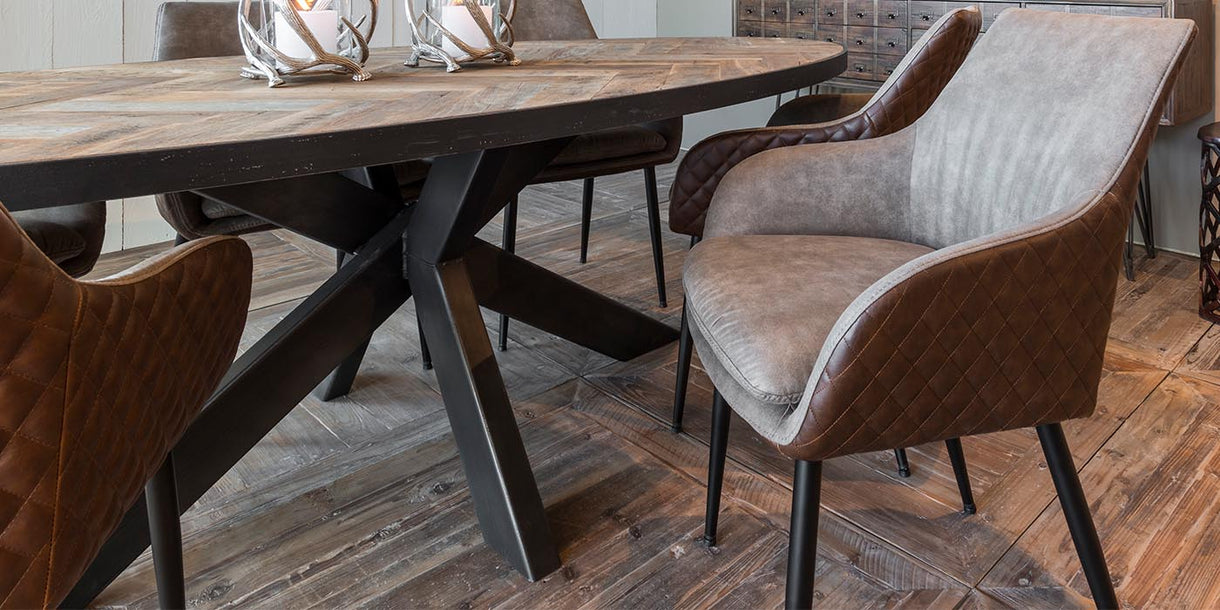 Gustav PU Leather Dining Chairs close up