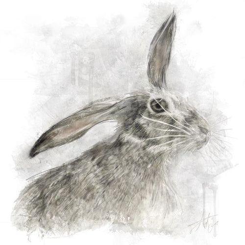 Hare wall art print by Ant Fox