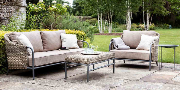 Heyshott Rattan Sofa Set with Armchair and Coffee Table