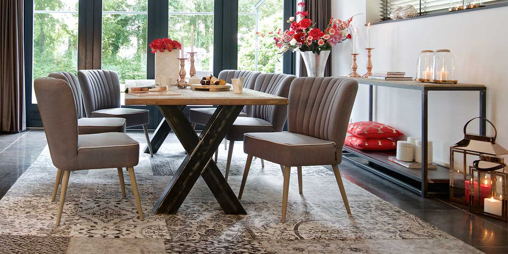 Hoxton Oak Industrial Dining Table
