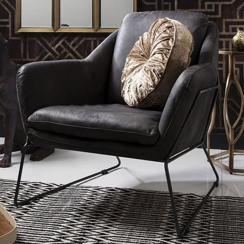Carson RetroSit Ebony Leather Armchair for living room