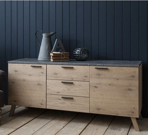 Hudson Living Chilson Oak Sideboard for Living Room