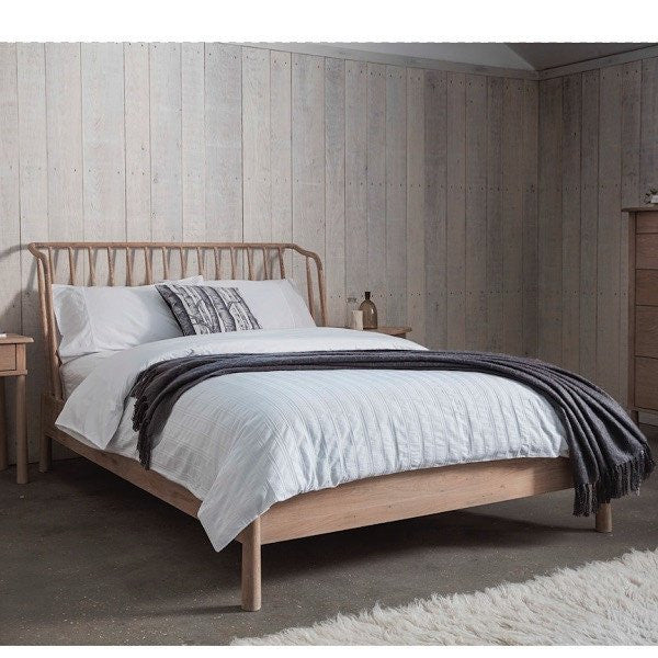 scandinavian reclaimed wood bed
