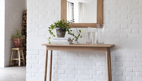Hudson Living Wycombe Oak Console Table for Scandinavian Hallway