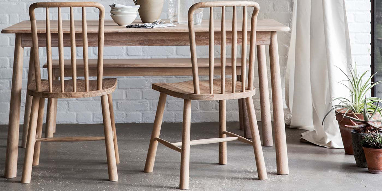 Hudson Living Wycombe Oak Dining Chairs and Table
