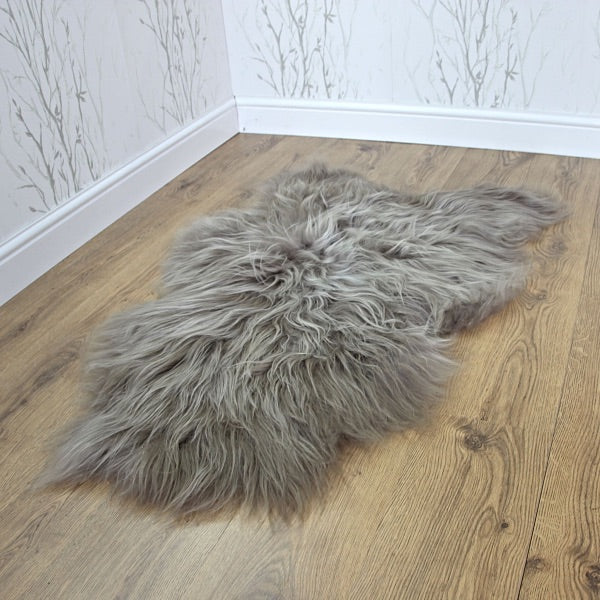 Luxury Large Grey Icelandic Sheepskin Rug