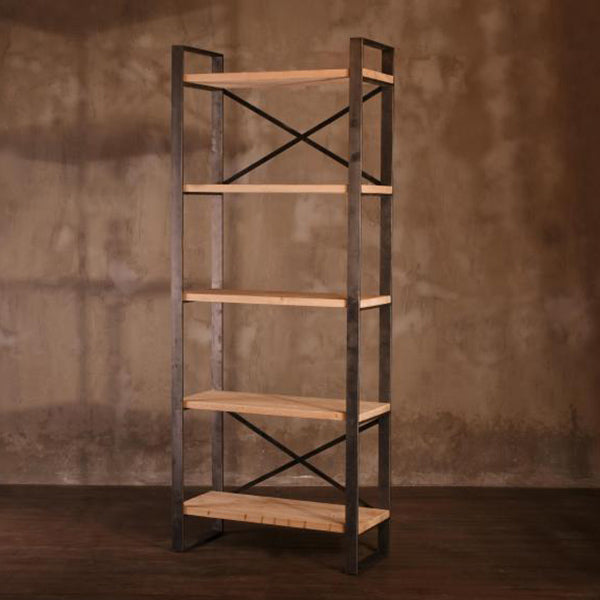 Industrial Wooden Bookcase